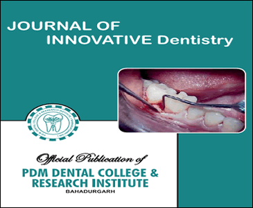 Journal of Innovative Dentistry -Official Publication of PDM